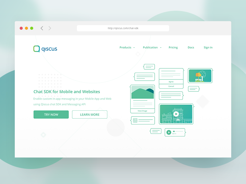 Chat SDK Landing Page Redesigned sketch figma chat ux ui landing page ui design clean web design