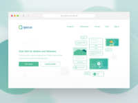 Chat SDK Landing Page Redesigned