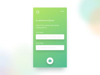 Live Chat Login Design invision studio chat responsive design ux ui landing page user interface clean web design