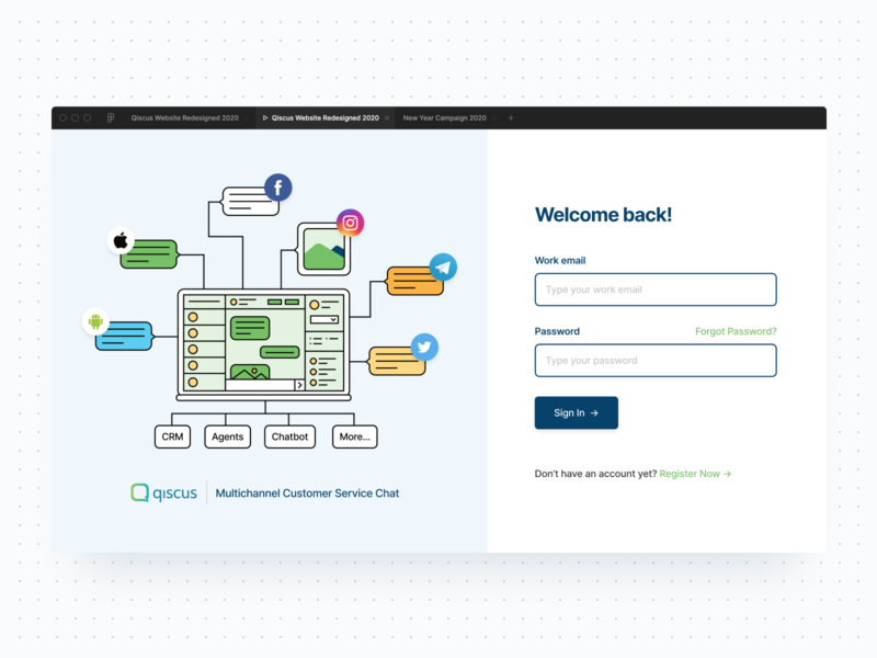 Login Page Redesigned UI login page branding illustration landing page web design figma clean ux ui ui design
