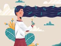 Flowing hair~