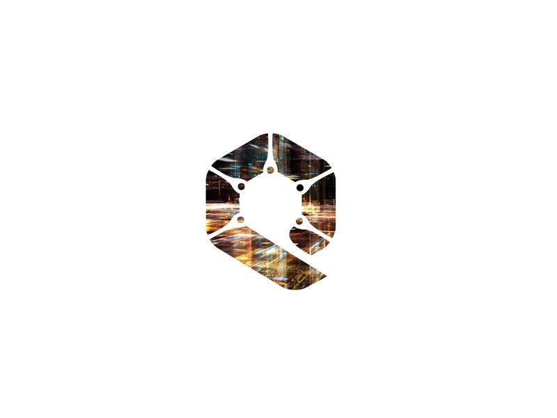Q flat logo simple abstract digital minimal