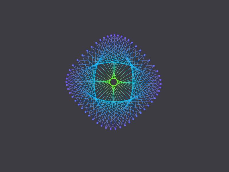 Exigent Energy logo linestyle geometry abstract power energy