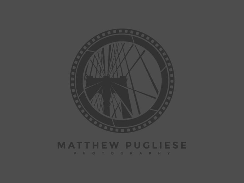 Matthew Pugliese Photography logo design shadows lights minimalistic flatdesign landscape photography bridge