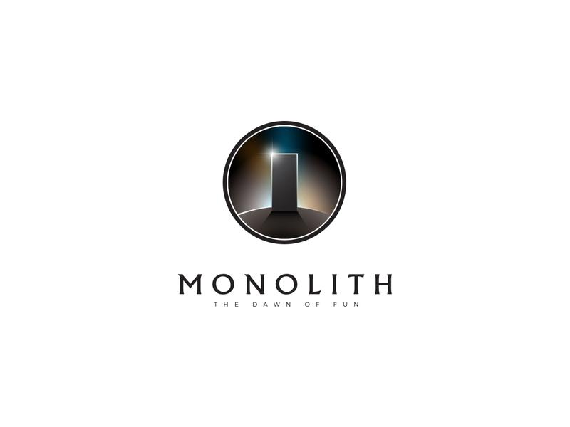 Monolith logo rock shadow sacred abstract light monolith