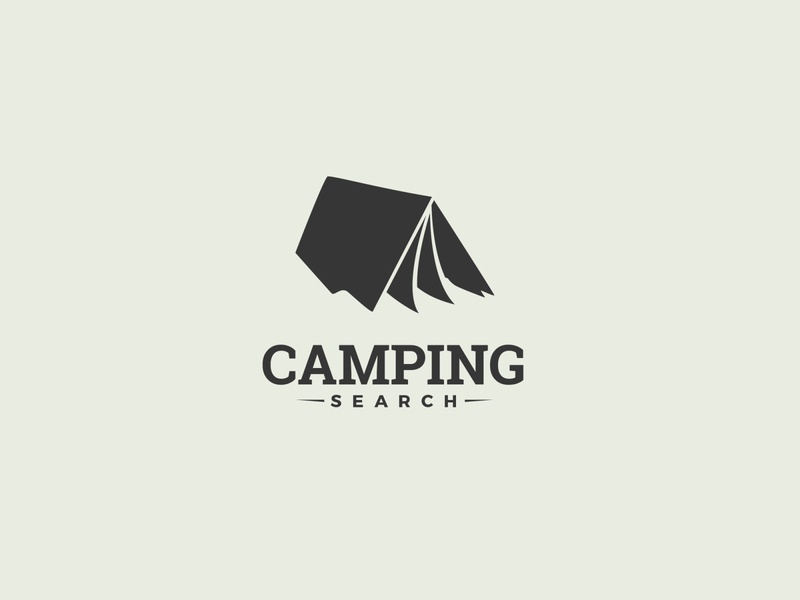 Camping Search simple logo folder tent search camping