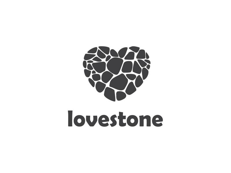 Love Stone rocks particles minimal simple logo love stone stone heart love