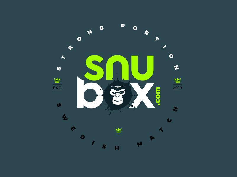 snubox lable logo design popup simple splash brand sweden monkey