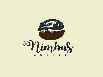 Nimbus Coffee logo cityscape moon castle owl coffee to go delivery coffee shop coffee