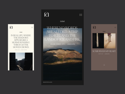 Stories — Photographic Journal webdesign elegant minimal mobile ui stories typography photography website photography editorial
