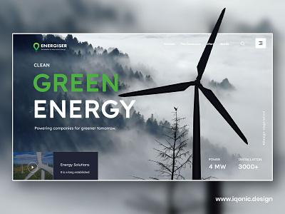 Enerzee - WordPress Theme (coming soon) ui  ux design web banner banners logo energy landing page web page wind energy wind turbine wind banner renewable renewable energy wordpress theme uidesign