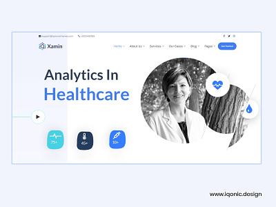 Xamin - Analytics in Healthcare WordPress Theme wordpress theme website design data science data analysis uidesign iqonic design template uiux ui design