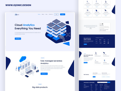 Qloud - Cloud Computing, Apps & Server HTML & Angular Template it services it solutions cloud computing theme cloud technology wordpress ui