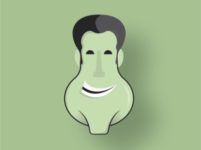 Smile character design icon flat vector design illustration character popular dribbble monogram minimal smile