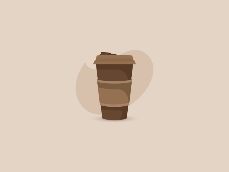 Take Away Coffee flat design flat icon vector design take away minimalistic minimalist coffee bean coffee cup minimal coffee