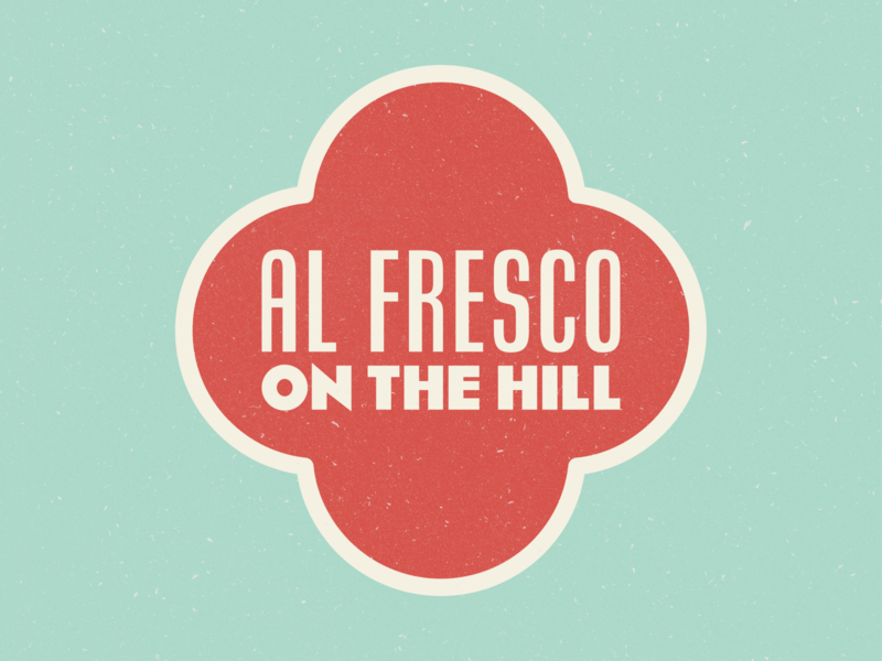 Al Fresco on The Hill art deco badge logo design vector design vintage typography vintage logo logo lapigna vintage typography italian rhode island providence federalhill federal hill alfresco al fresco