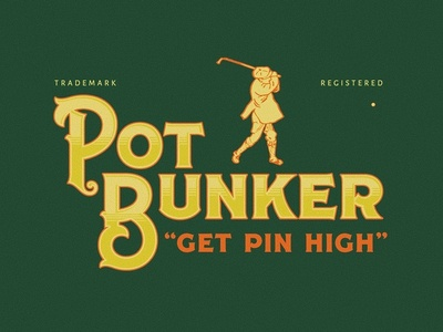 Pot Bunker Golf logomark logotype logo type logo mark pot bunker golf logo design logodesign logo typography