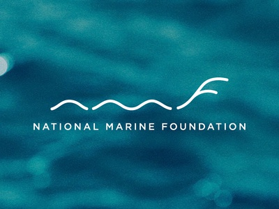 National Marine Foundation freelance design designer design sealife ocean logo ocean marine logo mark identity design branding and identity branding design logo design logo