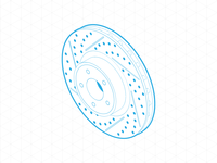 Brake disc in isometric
