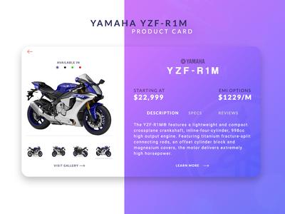 Yamaha YZF-R1M Product Card