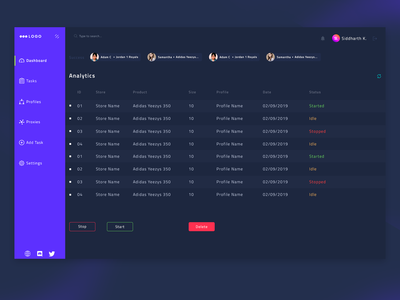 Axis Supreme Bot | Dashboard Design v2