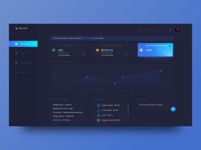Analytics Dashboard - Dark