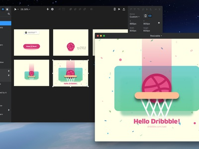 My First Shot! Hello Dribbble invision studio animation ui design ux design debuts first shot