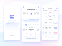 Cryptocurrency Mobile App for iPhone X