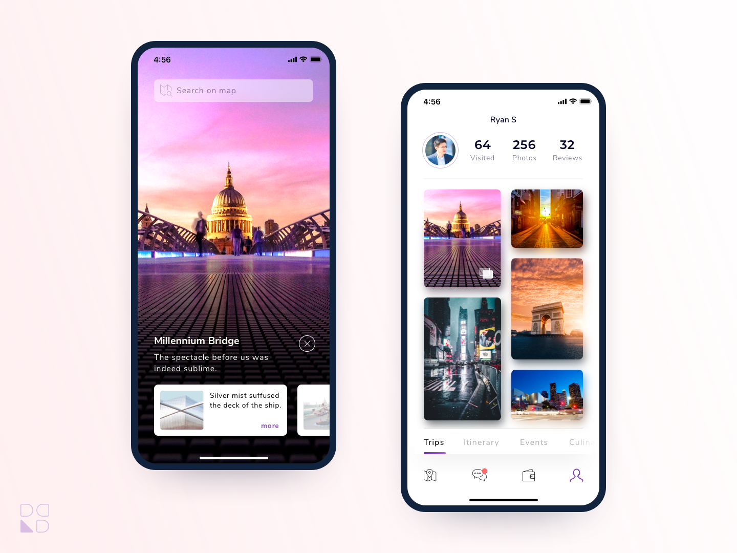 Traveller App colorful clean design travel app travel mobile app ux design ui