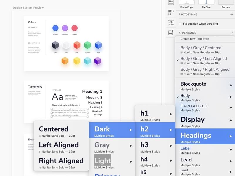 Design System on Progress ui kits sketch mobile app design ux ui typography color palette color product design ui ux ui kit design system