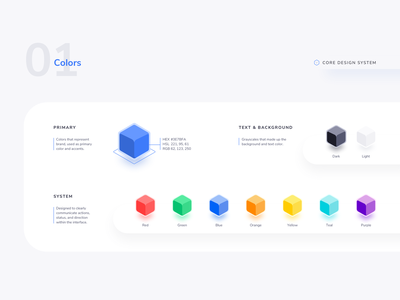 Core Design System - 01 Color invision studio adobe xd figma sketchapp design atomic design system ui kit design guideline design color colorful material design color palettes color palette 3d color color system contrast color ui sketch