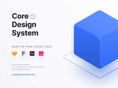 Core Design System atomic web design ui kit invision studio adobe xd figma sketch design ux ui design system