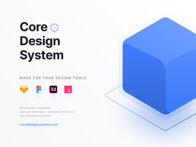 Core Design System atomic web design ui kit invision studio adobe xd figma sketch design ux ui design system