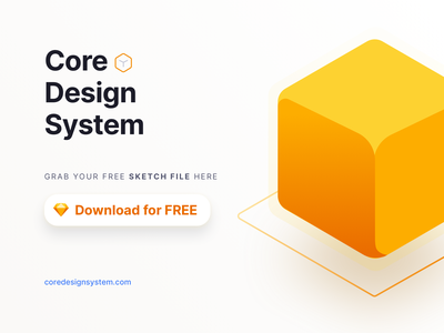 Core Design System Free Download Sketch File atomic design system atomic design design mobile app mockup freedownload freebies sketchapp uikit ui design ux ui sketch