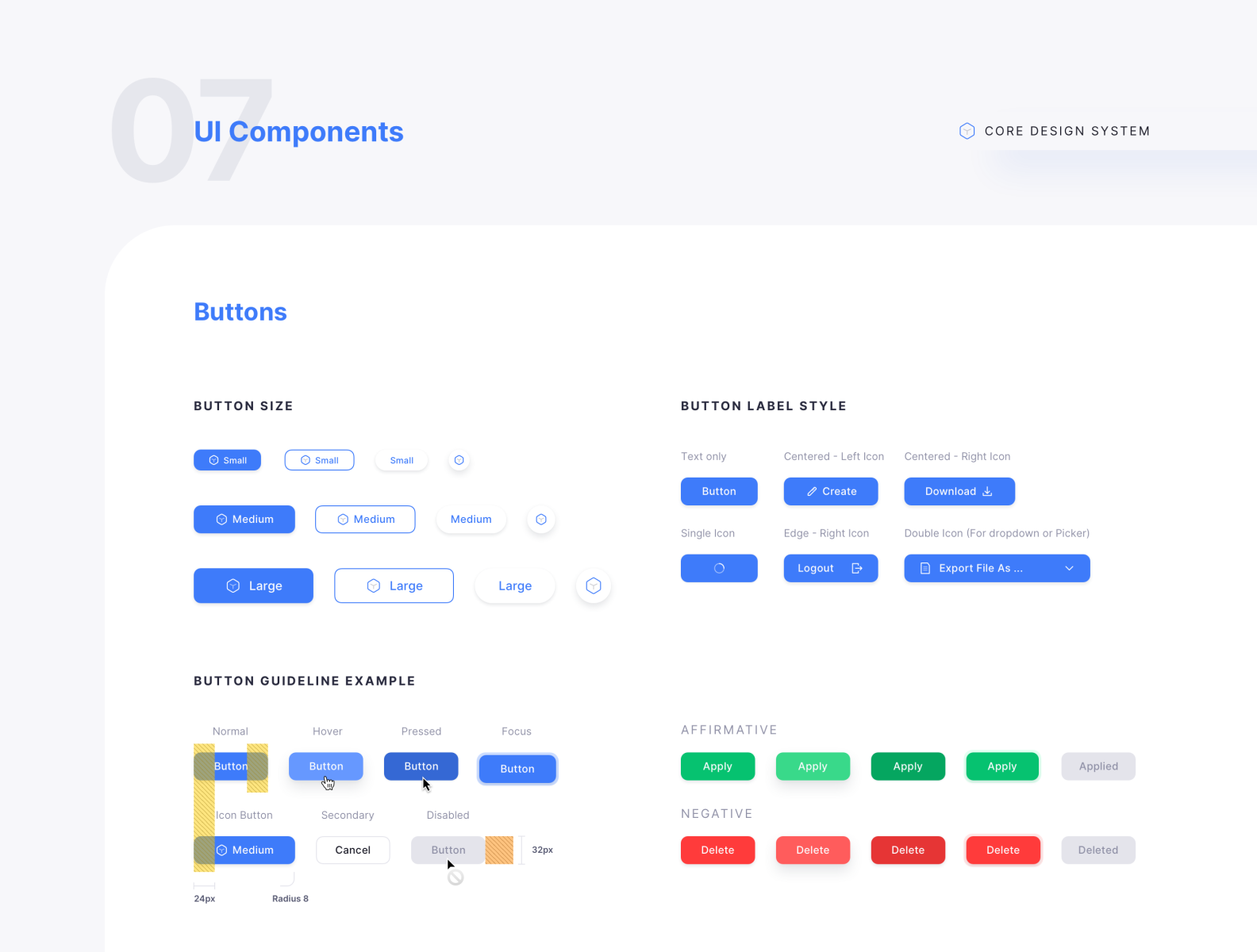 Ui Components Buttons Core Design System By Ryan Sael On Dribbble