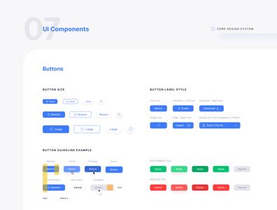 UI Components - Buttons - Core Design System
