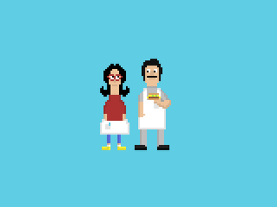 Bob's Burgers WIP pixel art 16 bit 16-bit video game retro bobs burgers illustration tv gaming 8 bit 8-bit pixel