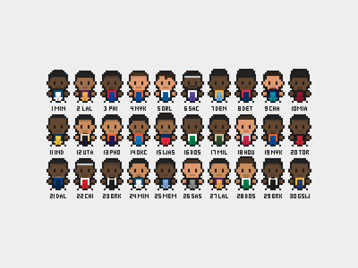 2015 NBA Draft arcade pixels illustration characters sports 16-bit 8-bit pixel art basketball nba