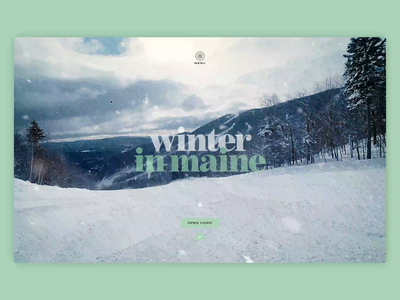 Winter in Maine - Hero Mask Transition transition winter website webdesign motion background video 2d animation mask