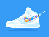 Nike Air Force 1 vector illustration