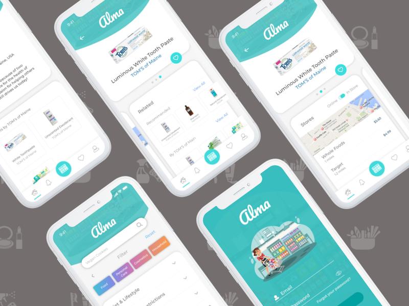 Alma App healthtech healthapp knowledge personalization ux design alma visual design interaction design app ui illustration