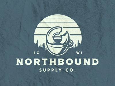 Northbound Supply Co. Tee texture typography midwest north skyline forest donut coffee vector illustration vector t shirt design t shirt