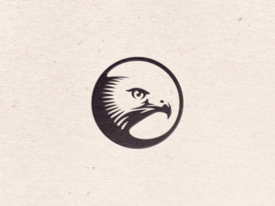 Hawk Icon stamp seal letterpress paper texture contrast circle icon hawk vector art vector illustration