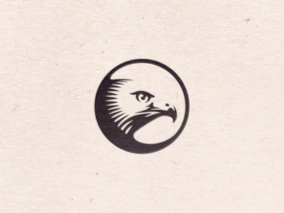 Hawk Icon stamp seal letterpress paper texture contrast circle icon hawk vector art vector illustration