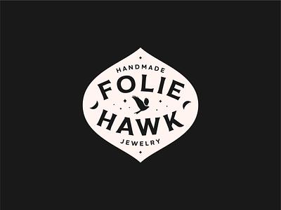 FH Type Badge type badge design vector stars shadow moon sticker jewelry silhouette hawk vintage branding typography badge