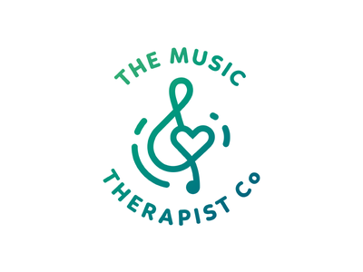 The Music Therapist Co. logotype logo spirit energy tranquil healing treble clef therapy music
