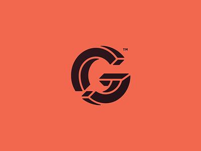 CG optical illusion logomark transition brand circle stencil 3d trademark logo monogram g c