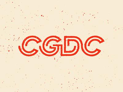 CGDC Logotype vector printmaking balance thick lines red cgdc acronym texture typography logotype logo
