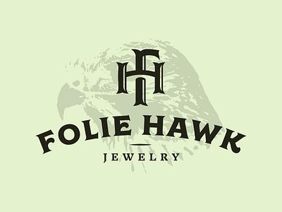 FH Monogram 1 vintage badge folie hawk branding monogram letter mark kerning h f fh logo jewelry typography vintage monogram