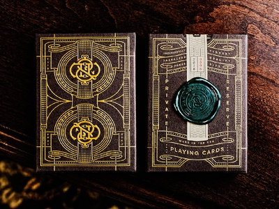 Dan and Dave Private Reserve playing cards typography luxury tuck case embossing hot foil wax seal vector pattern design illustration playing cards